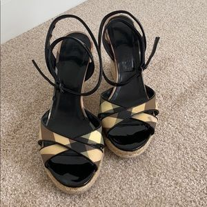Burberry Wedge Sandals!